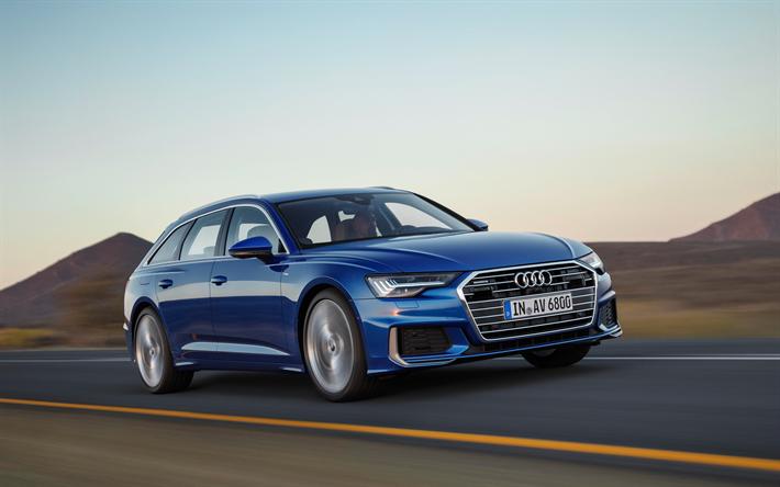 Download Imagens Audi A6 Avant 2019 Exterior 4k Azul Novo A6