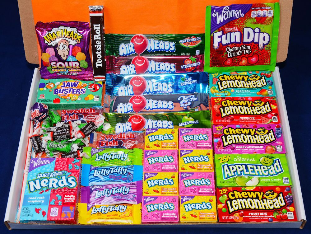 Details about American Sweets Gift Box 46 Items USA