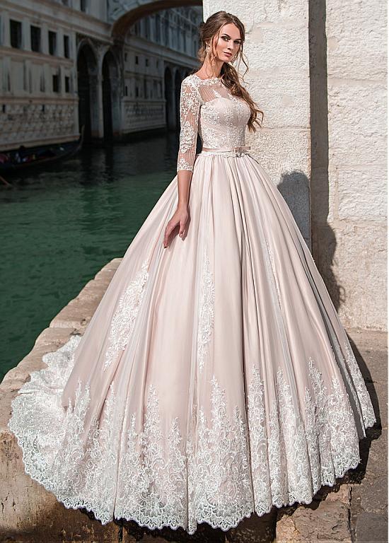 Rabatt Glamouröse Tüll Bateau Ausschnitt Ballkleid Brautkleid mit ...