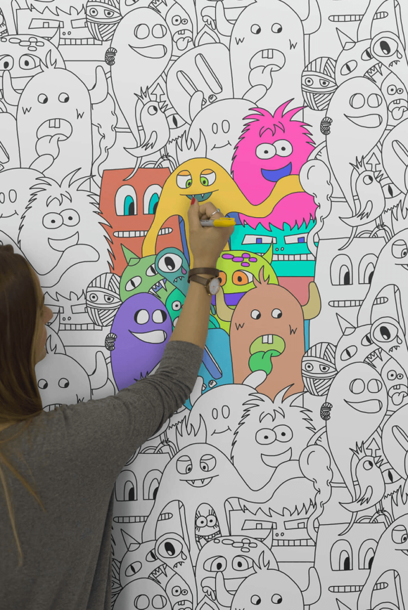 Removable Colour In Wallpaper Releases Your Inner Child
