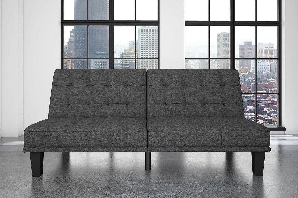 Tufted Back Convertible Sofa Futon