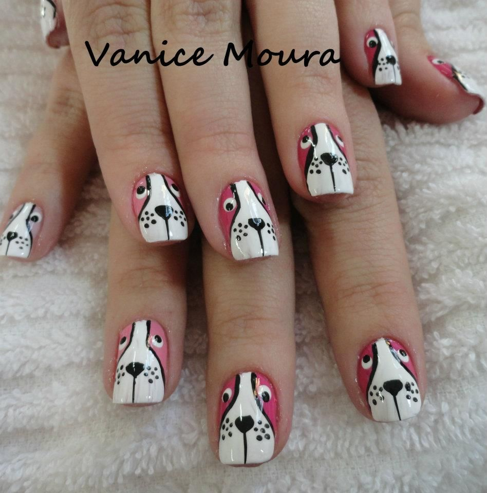Zero The Dog Nail Designs: Dog Nails Colours: White, Black And Brown Length: 15