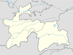 Location of Nurek Dam within Tajikistan Central Asia Maps