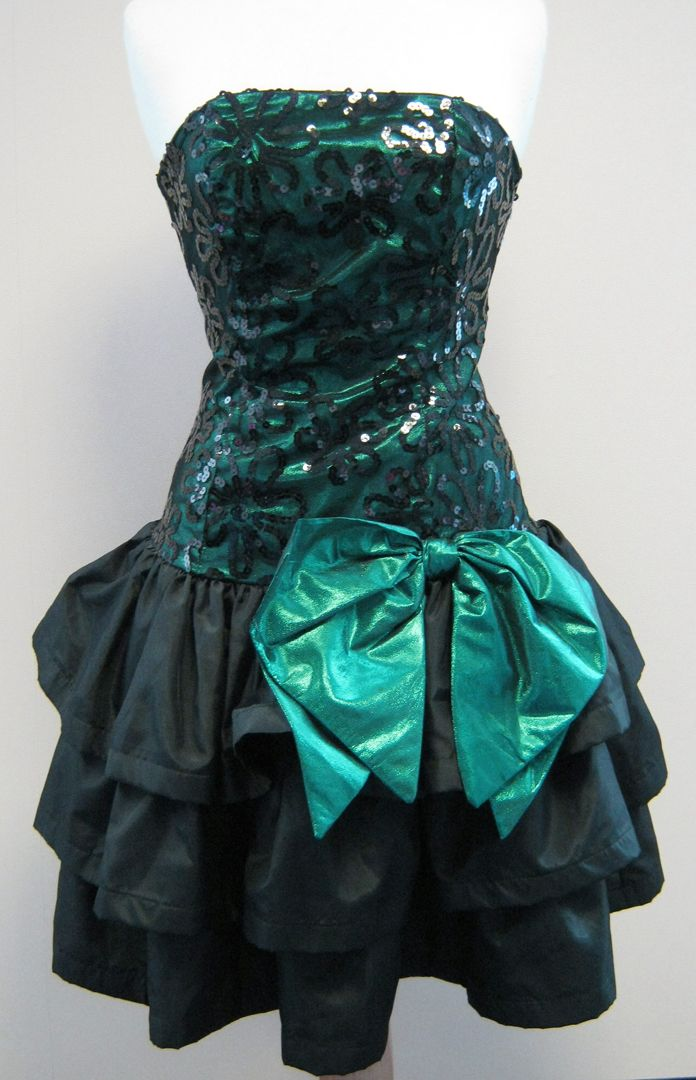 80's prom dress! oh ya! | KC Irish Parade Ideas | Pinterest | Big ...