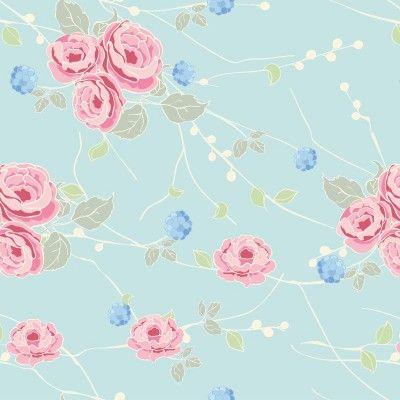 Papel De Parede Floral Rosas 57 Parede Floral Wallpaper E
