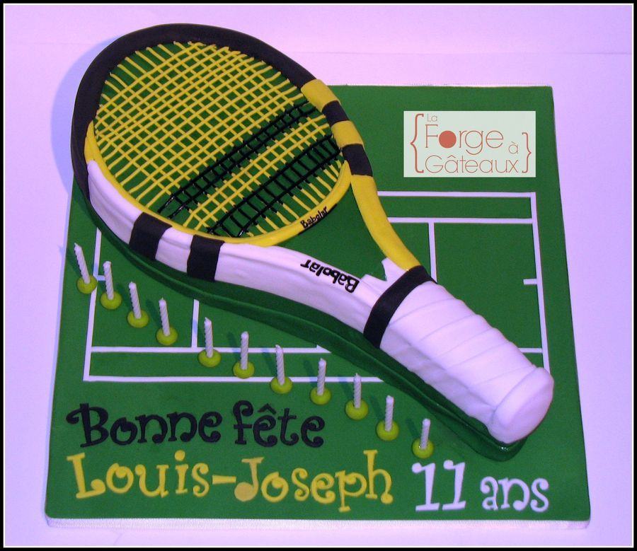 Babolat Tennis Racket Birthday Cake