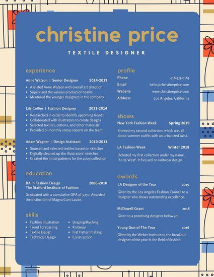 Colorful Abstract Pattern Creative Resume | Resume | Pinterest ...