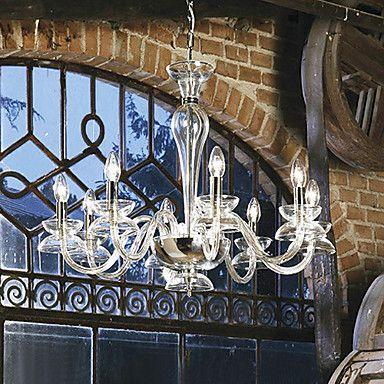 vela moderno caracterizado lustres de cristal com 8 luzes cor transparente – BRL R$ 807,95