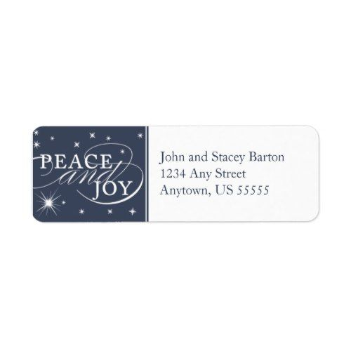 peace and joy holiday return address label popular christmas