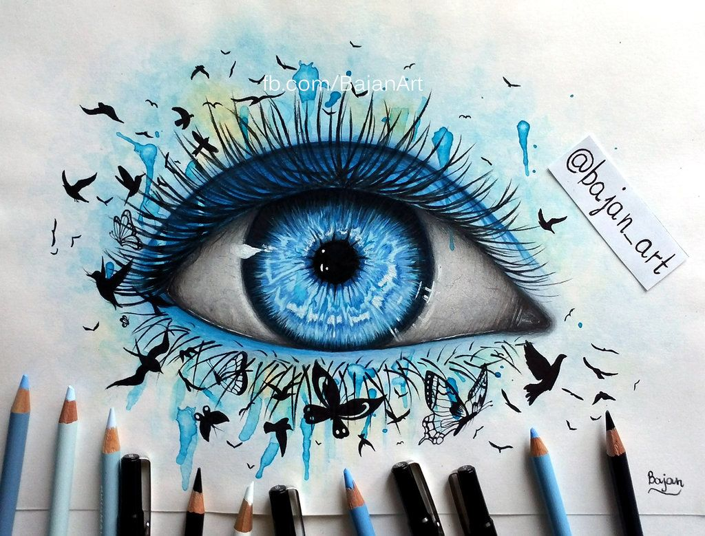 Freedom Eye Drawing By Bajanoskideviantartcom On