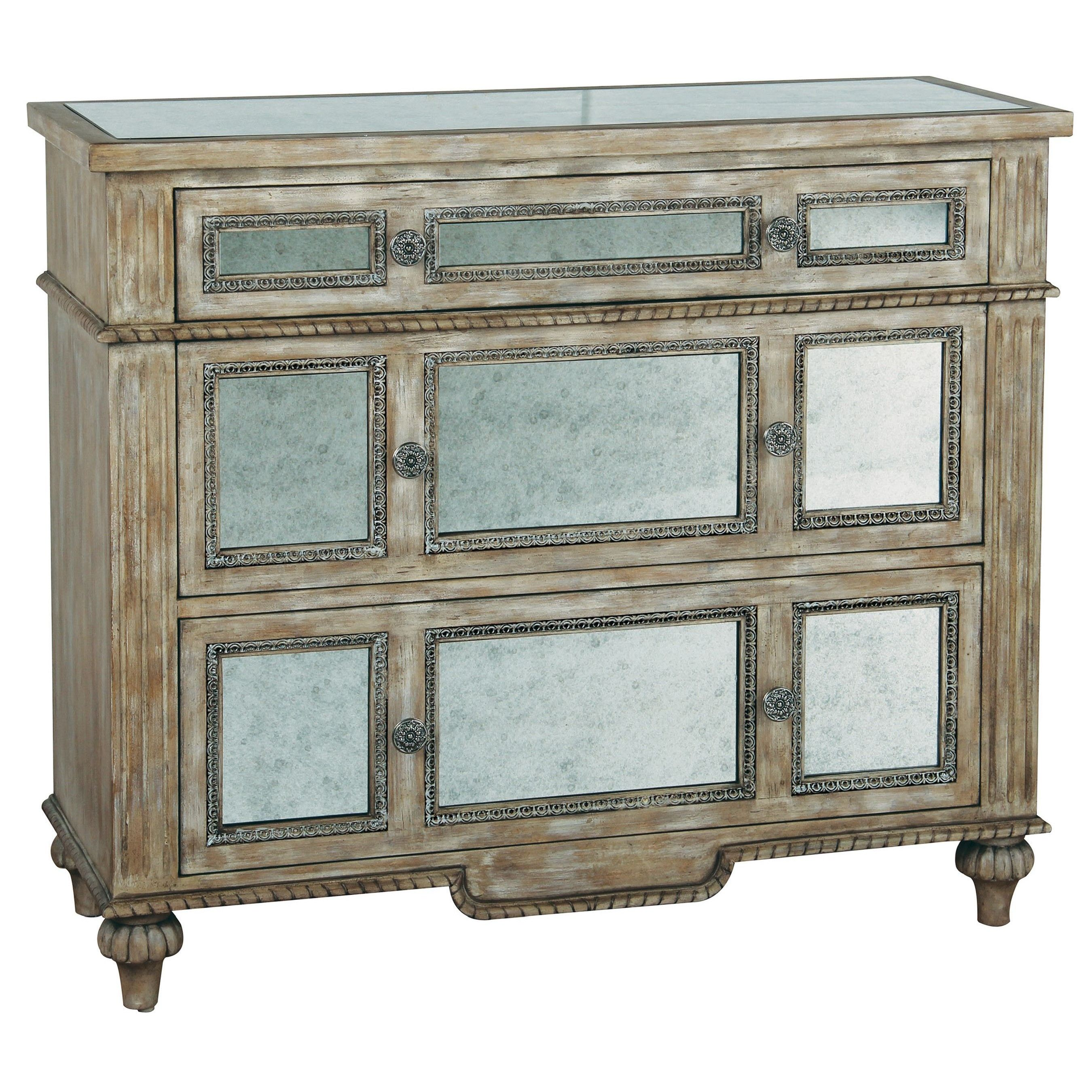 FIG Stores is offering Liberty & Pulaski Furniture currently 8% OFF Regular Price! Pulaski Accents Chest More Sophisticated Than The Price Would Indicate, Our Chest Of Drawers Appears Naturally Aged And Relaxed. Antiqued Mirrors Are Inset Into The Drawer Fronts And Top To Amplify Sunlight And Candlelight. That's Romantic.