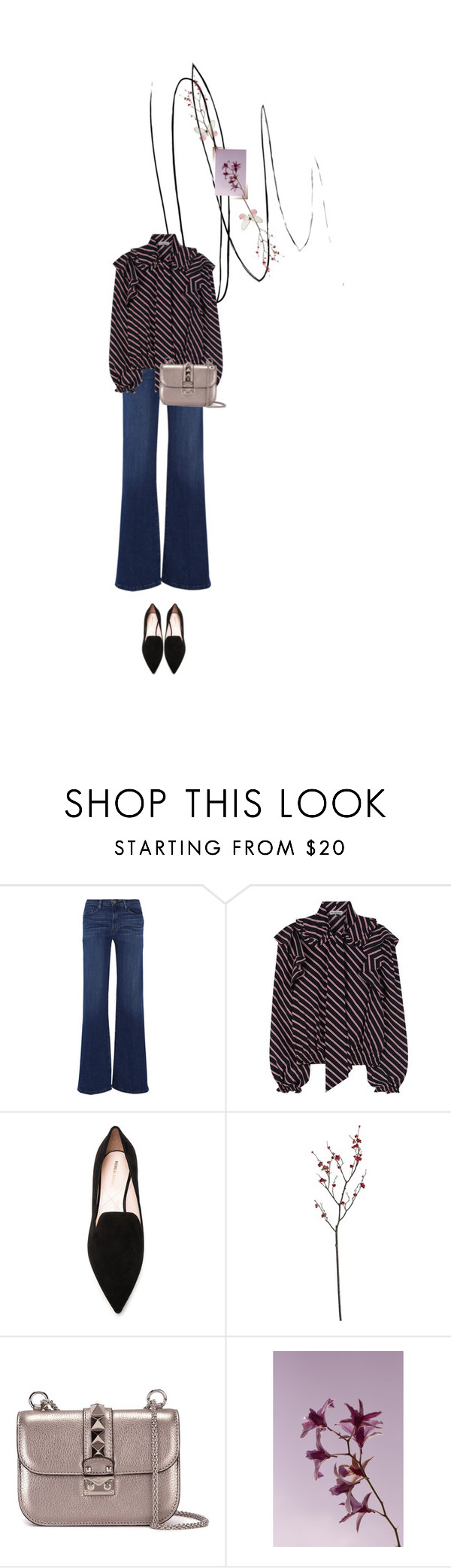 """Untitled #1547"" by maja-z-94 ❤ liked on Polyvore featuring Frame Denim, Balenciaga, Nicholas Kirkwood, Crate and Barrel and Valentino"