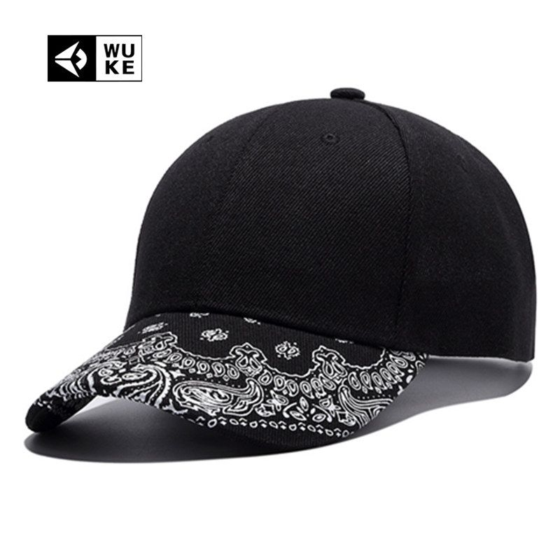 2702874dde4f20 [Wuke] Hot Blank Baseball Cap Paisley Peaked Caps European Printing Hip Hop  Punk Rock Snapback Hats Plain Bones For Men Women