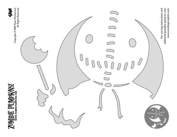 Sam pumpkin carving stencil trick 39 r treat jack o for Trick or treat pumpkin template