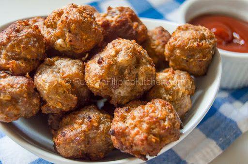 Easy Pork Meatballs Filipino-Style (Bola-bola)   Recipe in ...