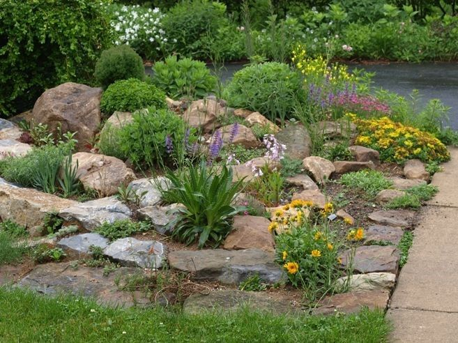 Rock Garden Designs Landscaping Ideas For Front Yard With