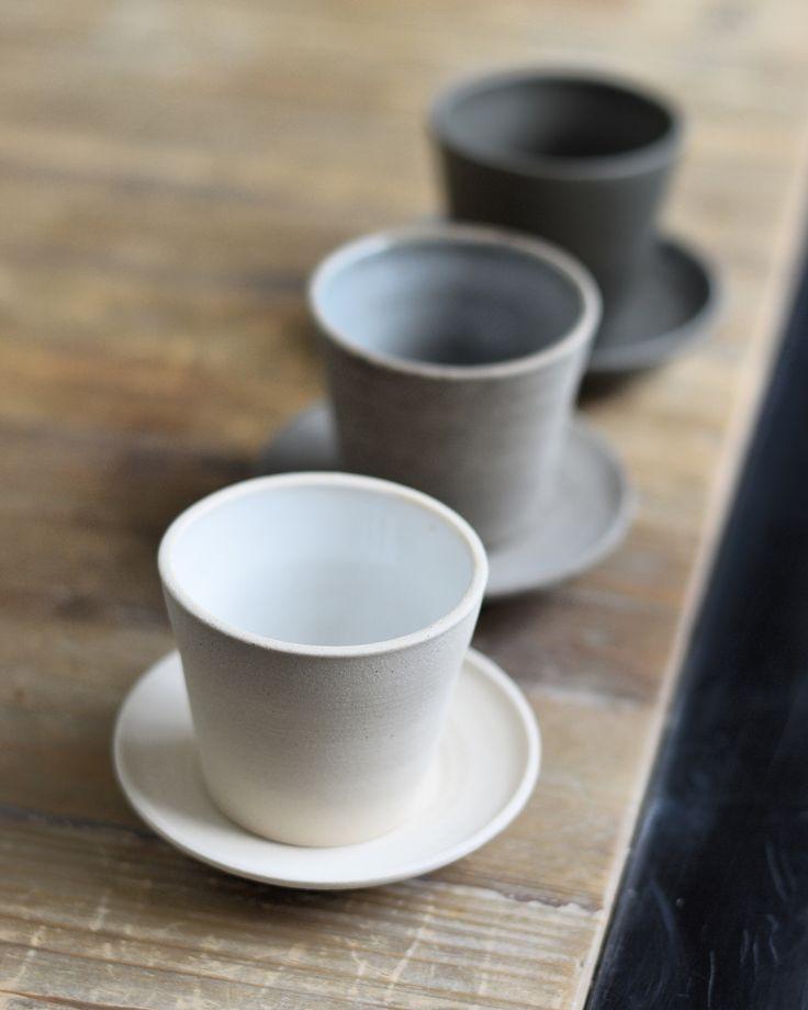 smart idea porcelain coffee mugs. Espresso cups by Jono Smart  C ramique Pinterest