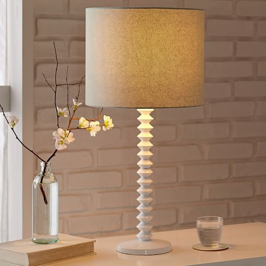 Candlestick Table Lamp Ribbed White Candlestick Table Modern Table Lamp Lamp