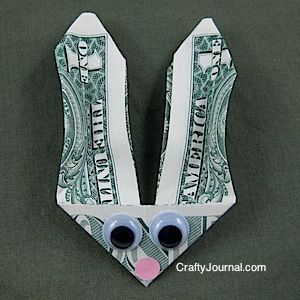 Bunny money great idea for an older childs basketthough bunny money crafty cute idea for money in the easter basket negle Image collections
