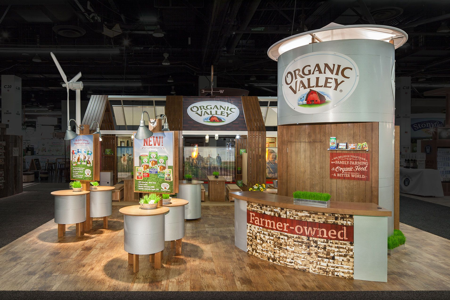 Food Exhibition Stand Design : Organic valley mg design trade show exhibits meetings