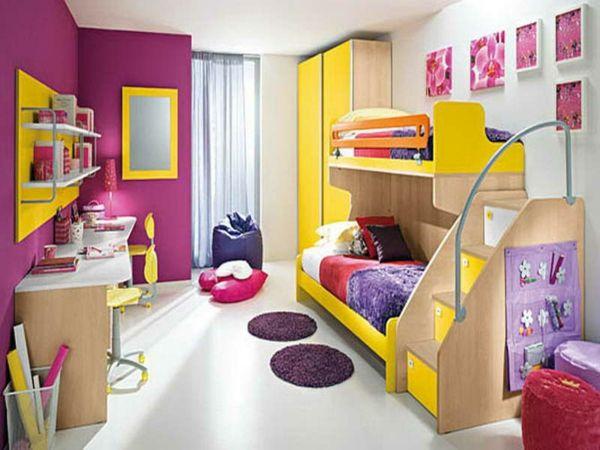 Idee Kinderzimmer Gestaltung Pink Gelb