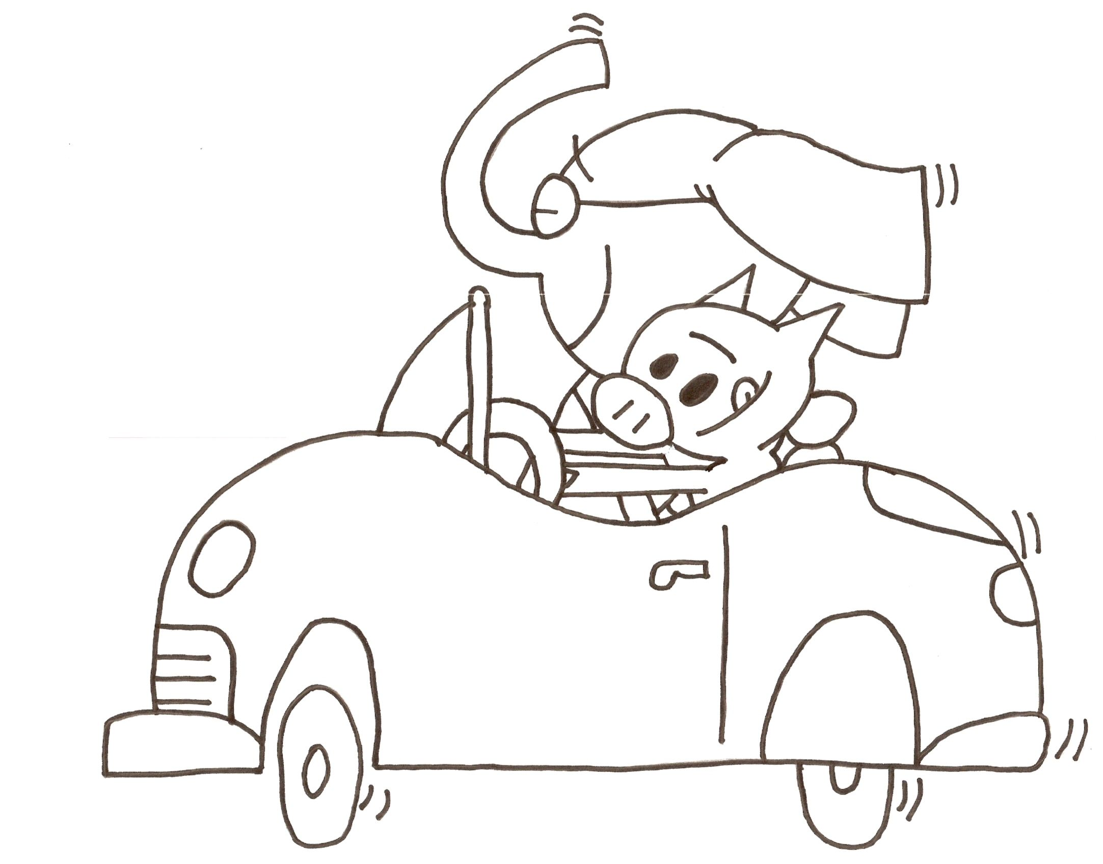 Elephant Piggie Coloring Sheet Quot Let S Go For A Drive Mo Willems Coloring Pages
