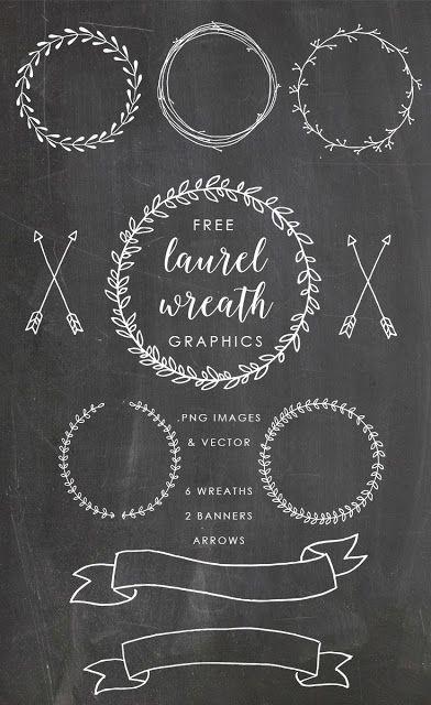 Photo of free laurel wreath graphics clip art