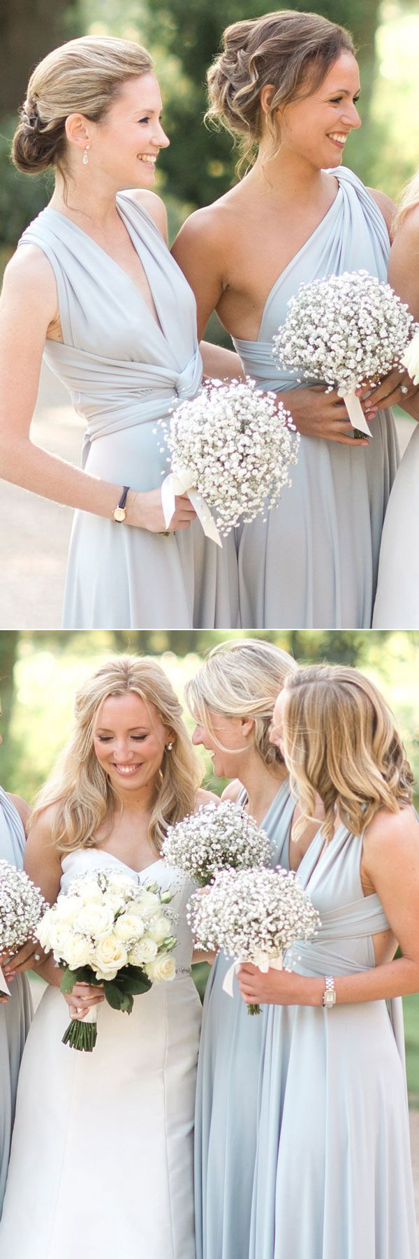Wedding dresses for brides bridesmaid and flower girls dusty