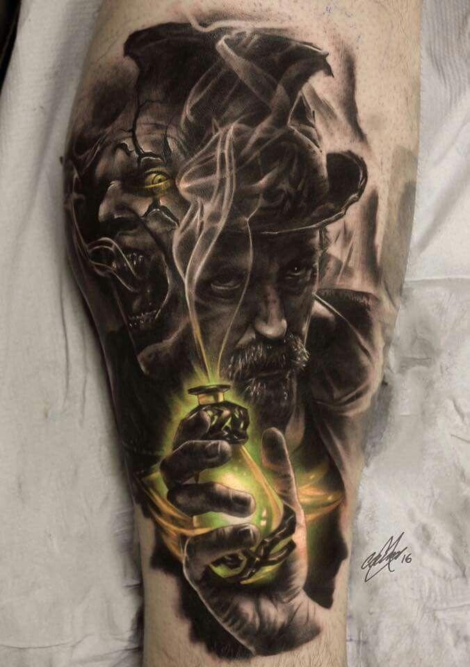 Jekyll And Hyde Tattoos Tatuaże Tatuaż I Pomysły Na Tatuaż