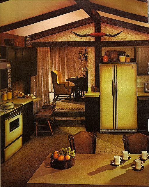 Homes Interior Design Photos: 1970s Architectural Digest Kitchen In 2019