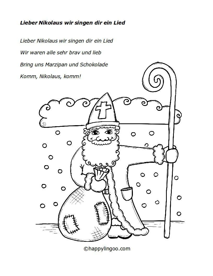Pin by Maria Magdalena on deutsch | Pinterest | Lieder, Nikolaus ...