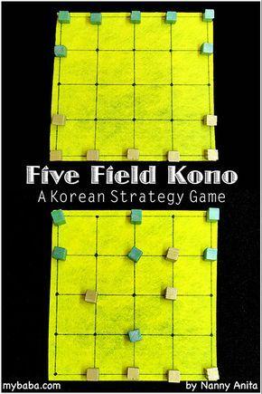 Nanny Anita S How To Play Five Field Kono Board Games Juegos De