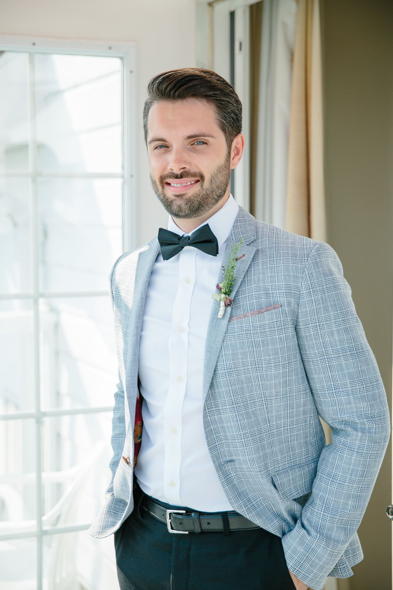 Summer Wedding at Windermere House | Groom style, Black bow tie and ...