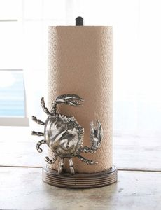 Coastal Paper Towel Holder Glamorous Crab Paper Towel Holder  Coastal Style  Pinterest  Paper Towel Decorating Inspiration