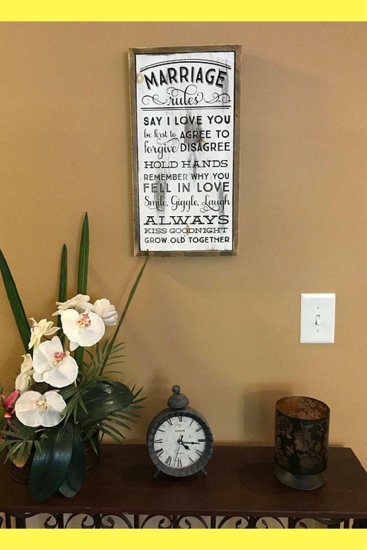 Rustic wood wall art marriage hang on your wall as a reminder of
