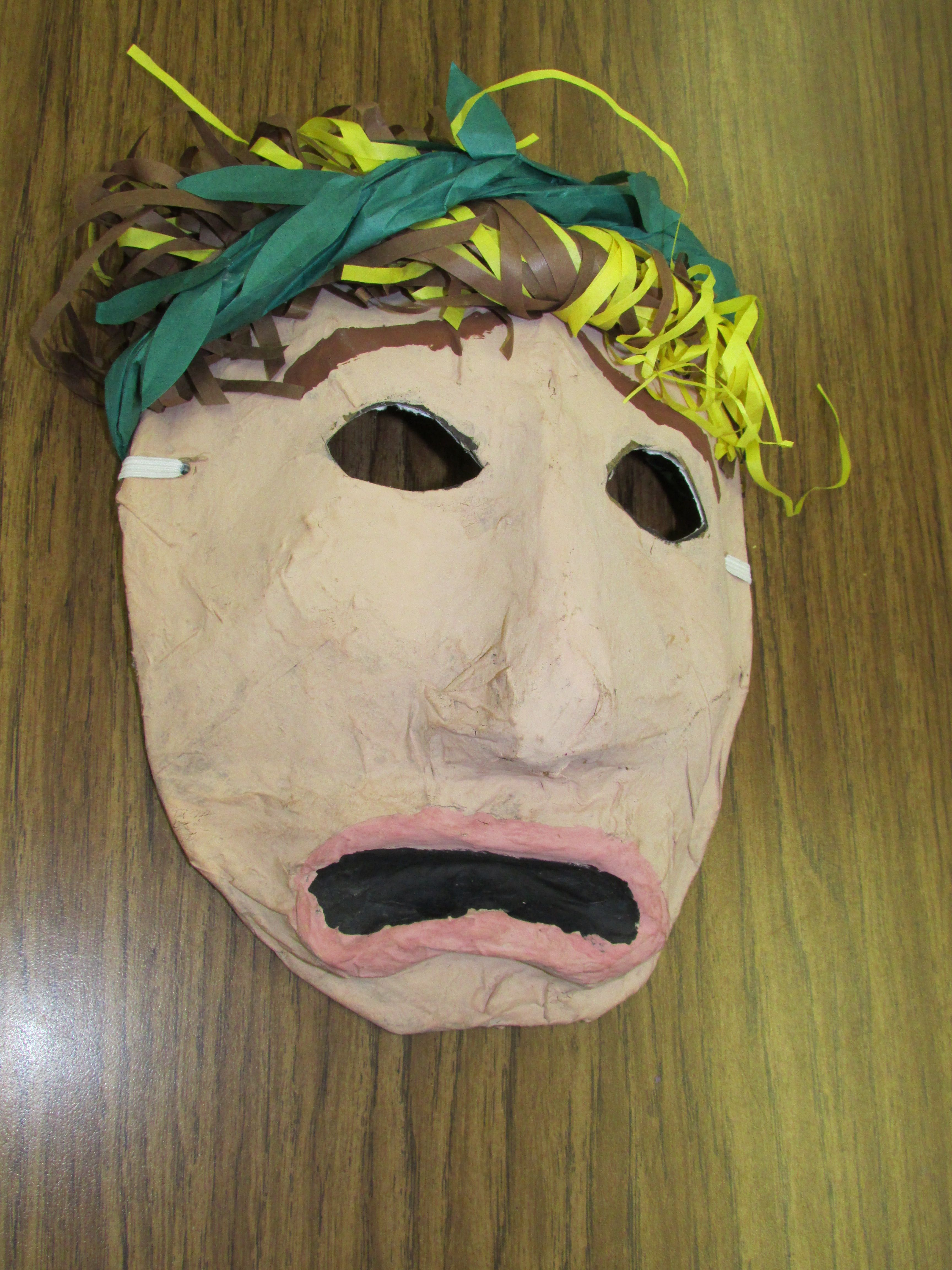 Paper Mache Greek Drama Mask By A 3rd Grader Lesson By