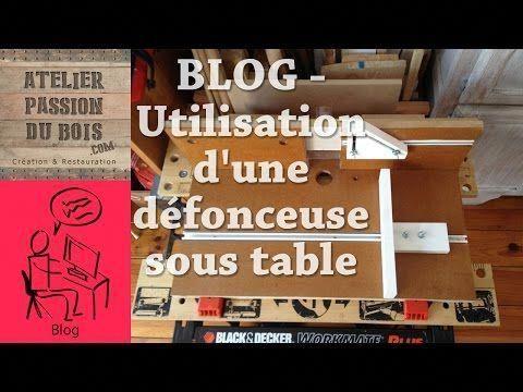 Defonceuse sous table Réalisation dune table en bois pour transformer la défonceuse en toupie Mise en place guides rails aspiration des copeaux