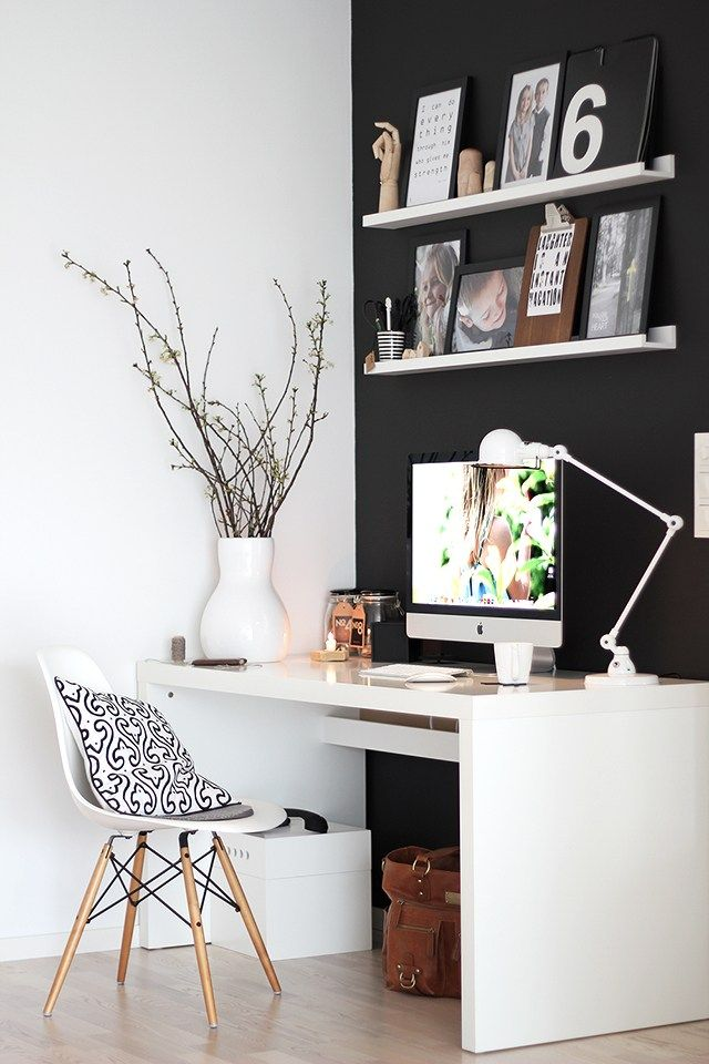 La oficina nrdica en casa  muebles  Pinterest  Oficina