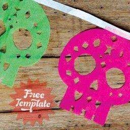 Easy to make papel picado calaveras & tons of other craft ideas!
