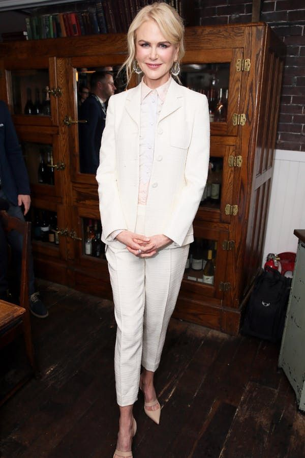 No White After Labor Day? Nicole Kidman Just Rocked a Killer White Pantsuit at the 'Destroyer' Premiere