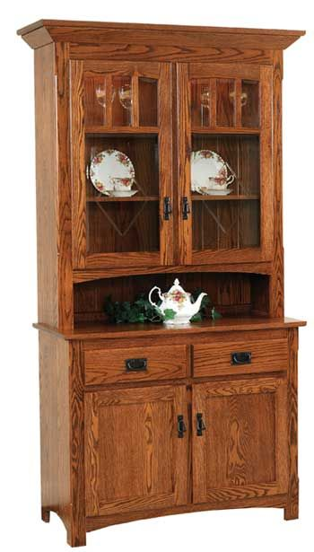 33 Off Century Mission 2 Door Hutch In Oak