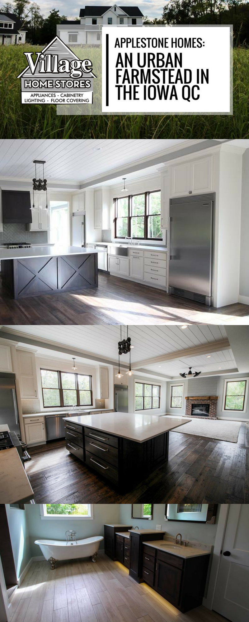 Modern Farmhouse Kitchen Perfection In This Urban Frmstead Built By Applestone Homes Cabinetry Village