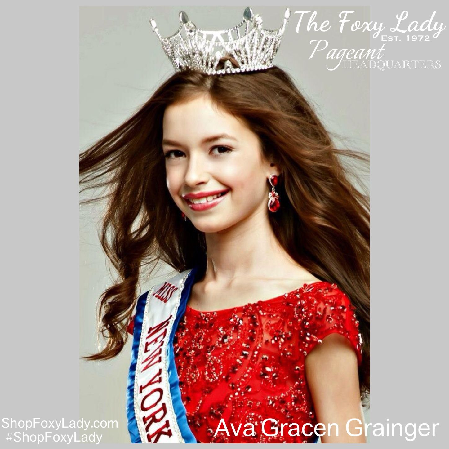 Miss New York Junior High School America, Ava Gracen Grainger, is a long time Foxy Lady and oh how we love this incredibly gorgeous, fun and intelligent girl, wise beyond her years!!! We are SO PROUD of you!!!! Xoxo #ShopFoxyLady #PageantHeadquarters #JonathanCarterPhotography