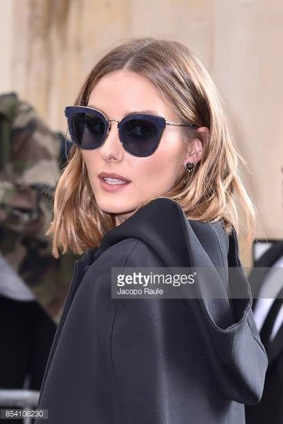 595dbd33e61 Olivia Palermo is seen arriving at Dior fashion show during Paris Fashion  Week Womenswear Spring Summer 2018 on September 26 2017 in Paris France