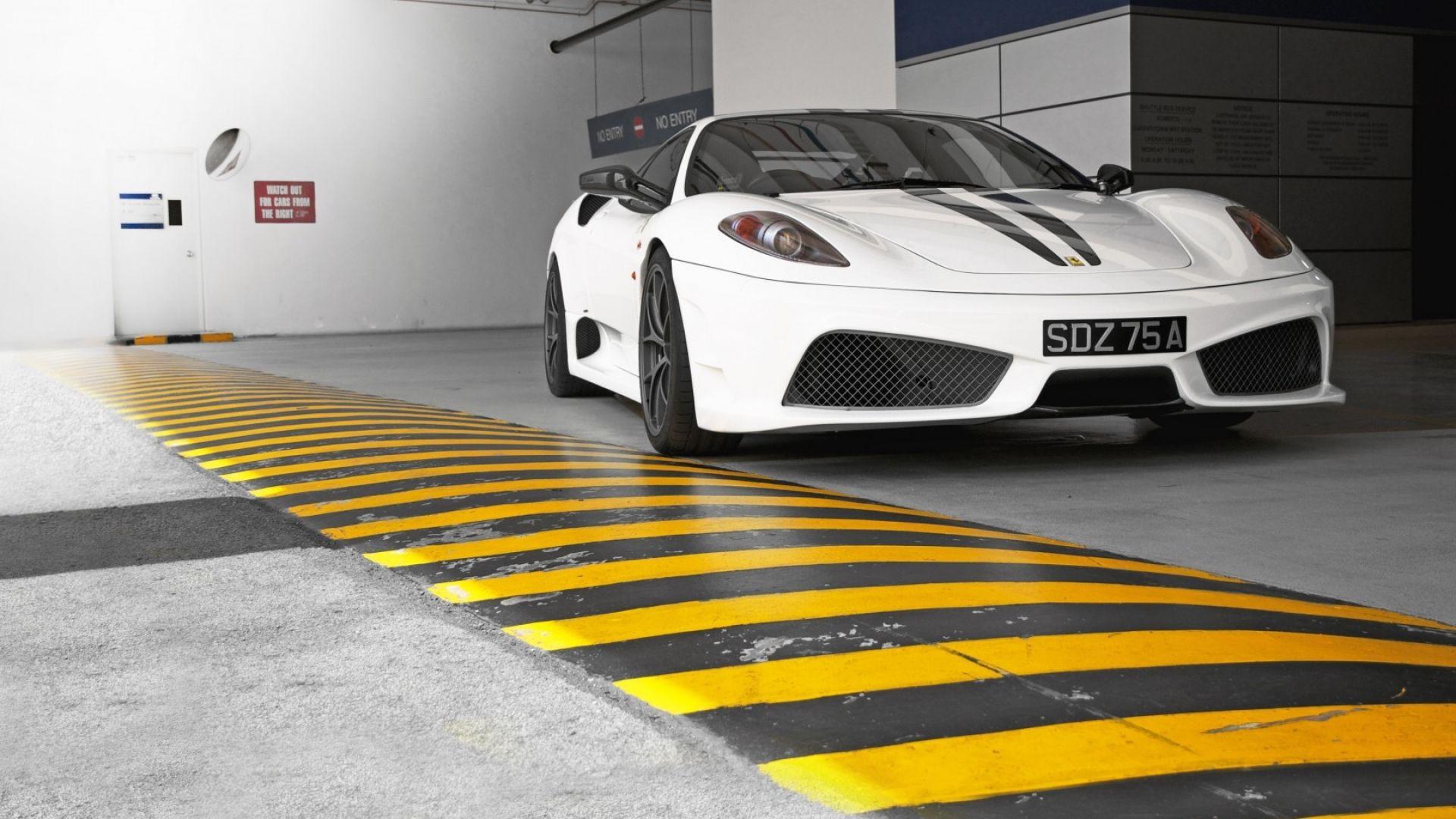 Download Wallpaper 1920x1080 Ferrari White Front View Full Hd 1080p Hd Background