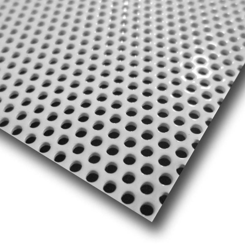 White Painted Aluminum Perforated Sheet 040 X 12 X 12 1 16 Holes White Paints Perforated Aluminum