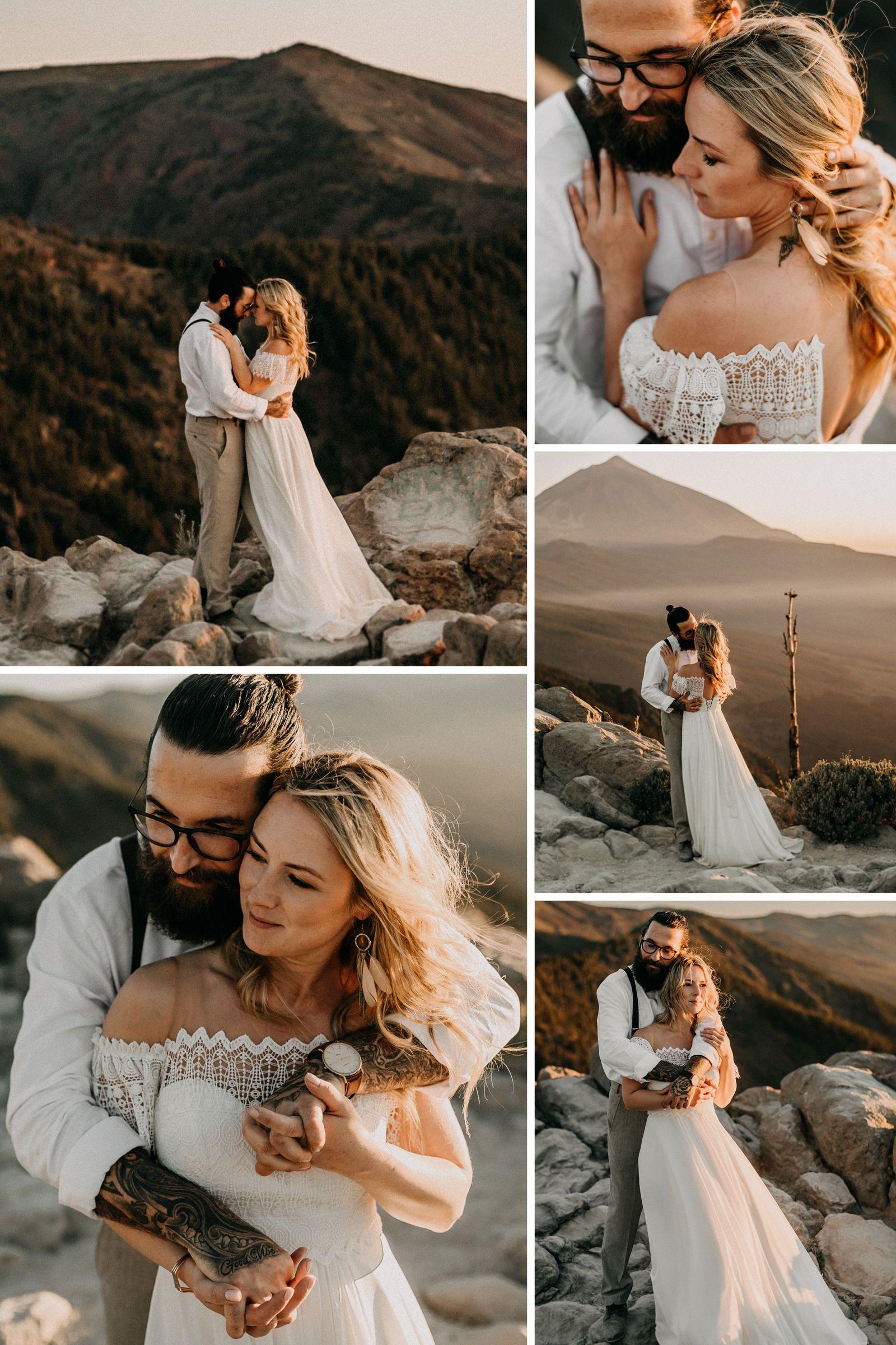 Ideen für schöne Hochzeitsfotos auf Teneriffa