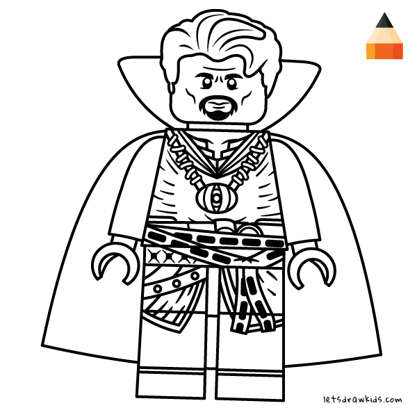 dr strange coloring pages Coloring page for Kids   How to draw Lego Doctor Strange  dr strange coloring pages