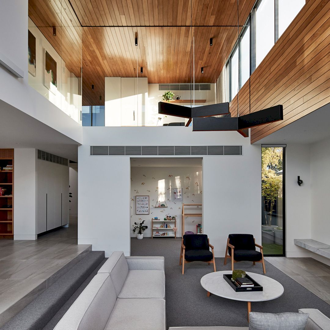 Bloomfield Modern House With Fairly Closed Front Elevation