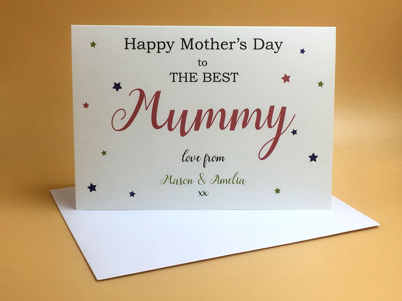 Mother S Day Card Mummy Card Mum Birthday Card Mummy Birthday
